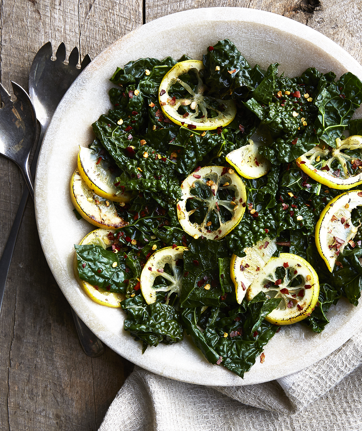 Sautéed Kale with Lemon Slices