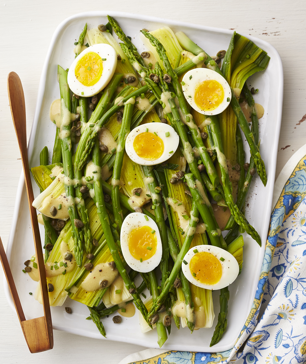 This Eggy Asparagus and Leek Salad Celebrates Spring's Finest Fresh Produce