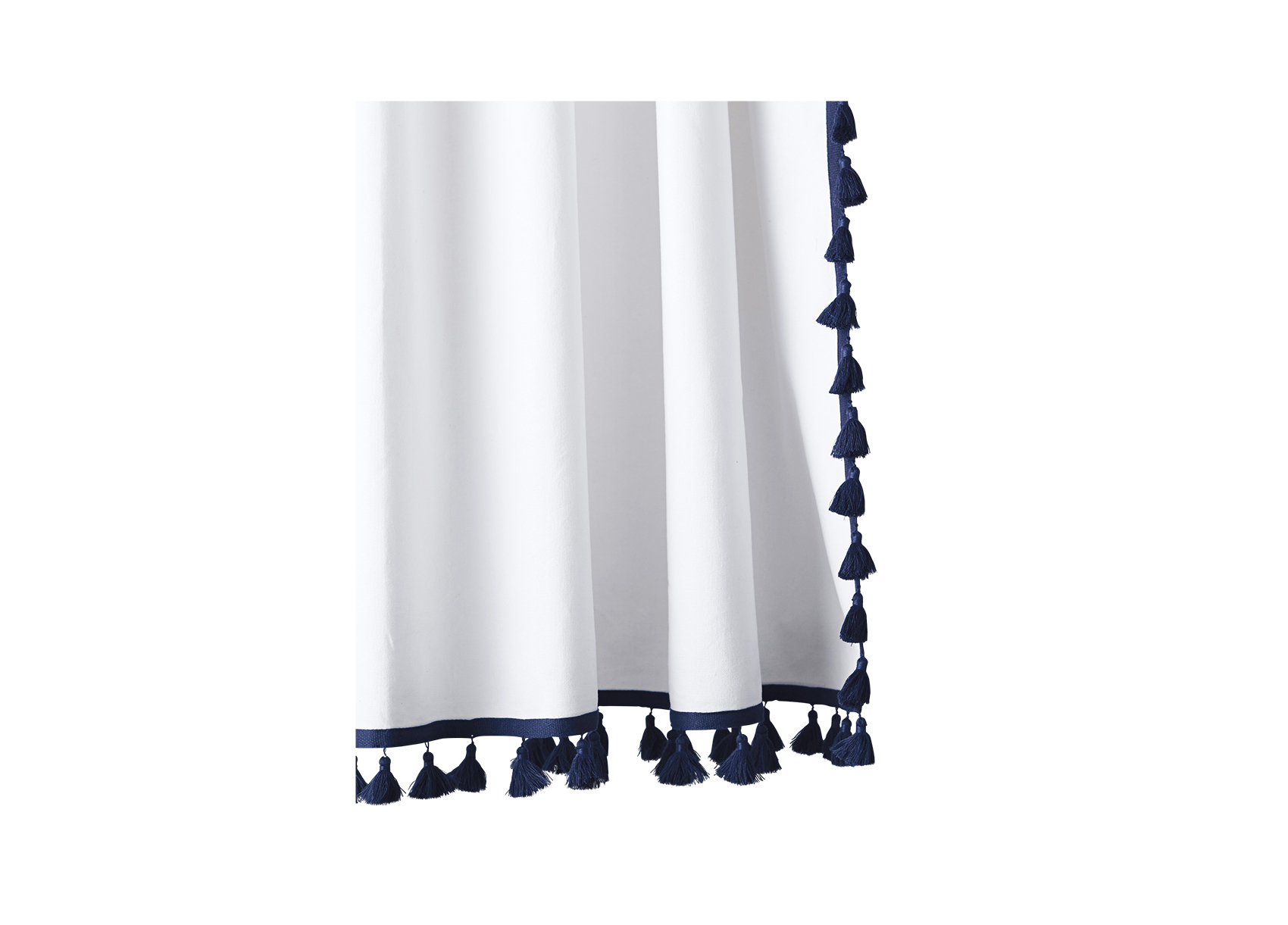 Serena & Lily French Tassel Shower Curtain