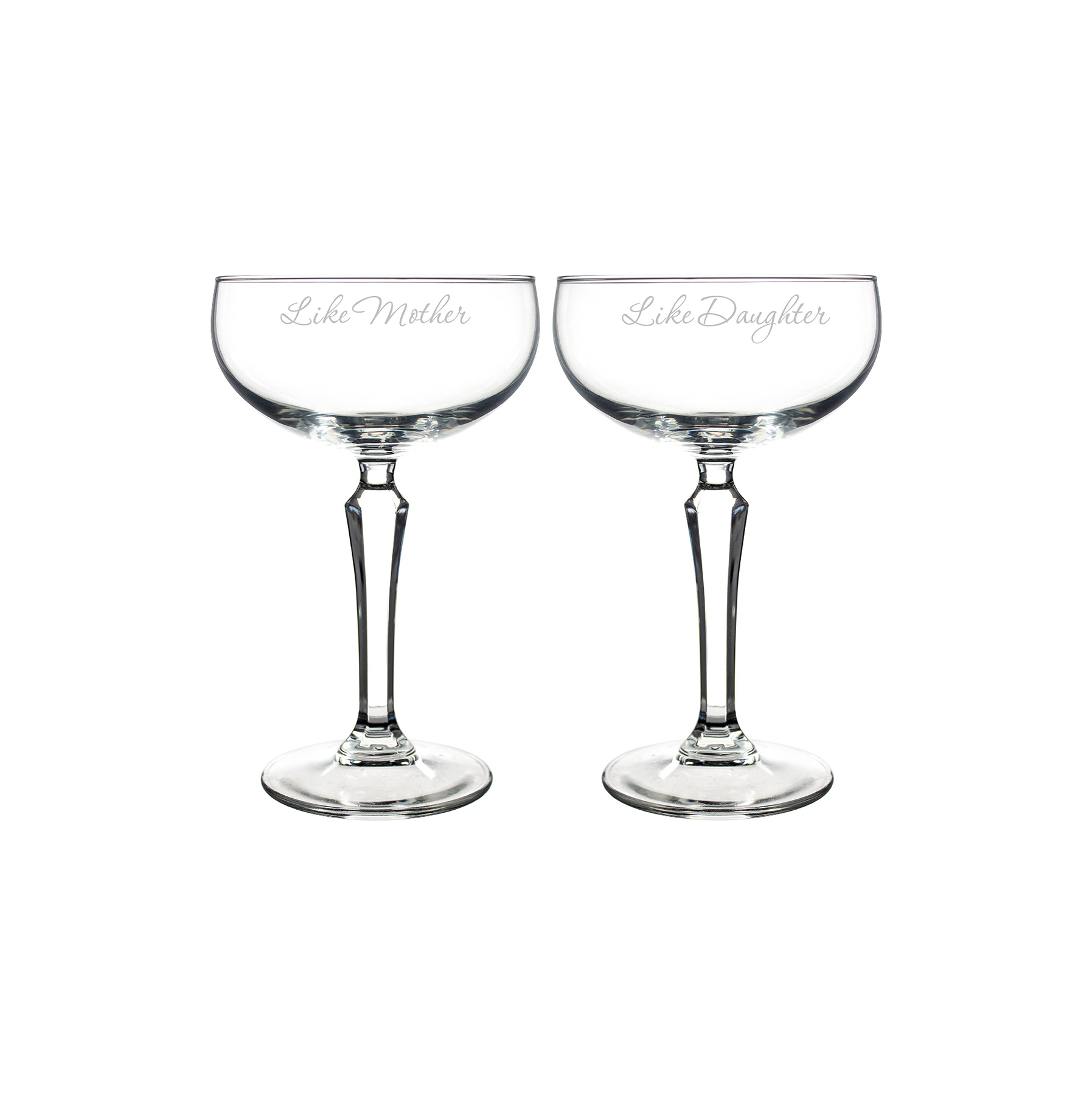 Like Mother, Like Daughter Champagne Glasses