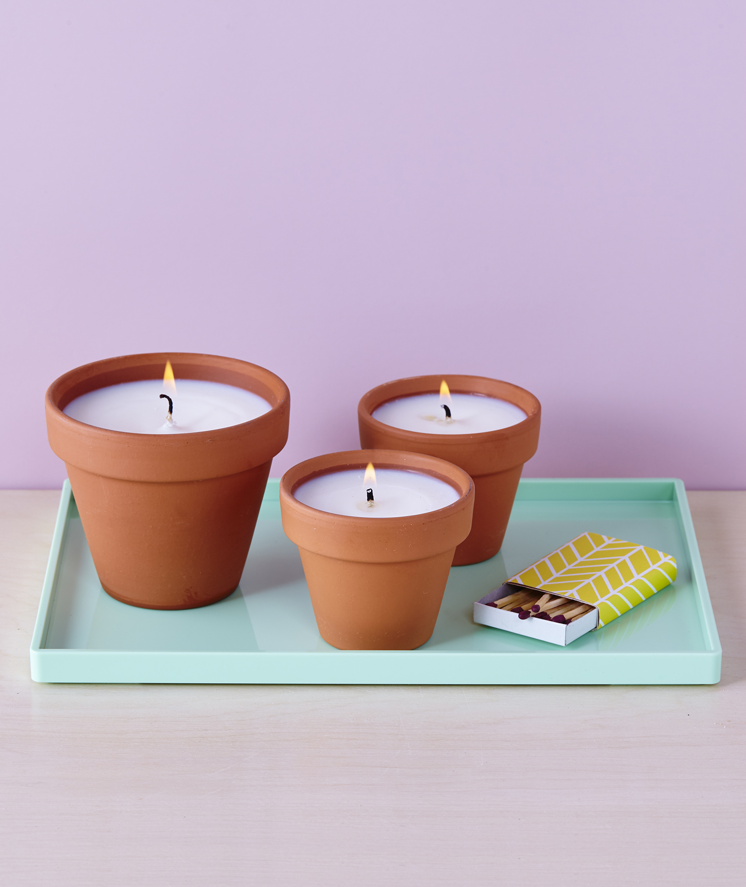 Terracotta Pot Candles