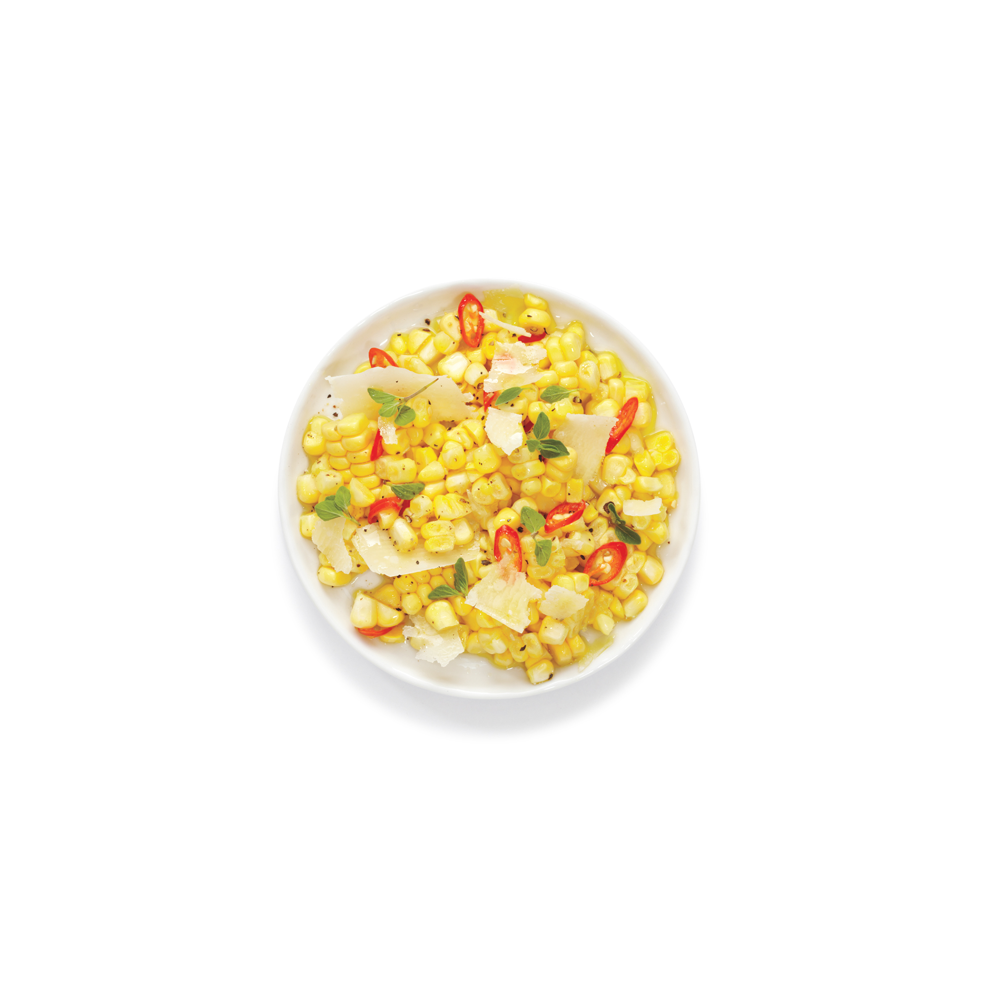 Corn Salad with Parmesan and Chiles