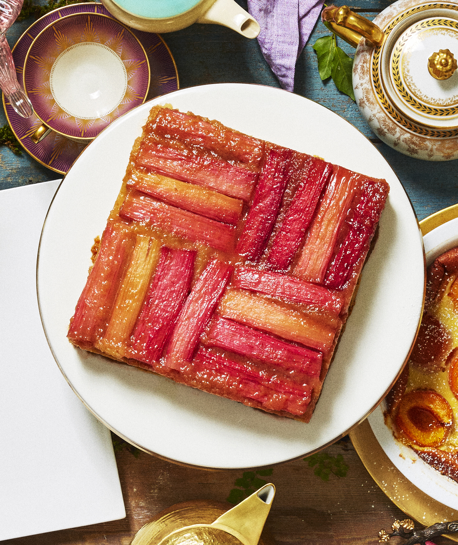 Rhubarb Upside Down Cake Recipe Real Simple