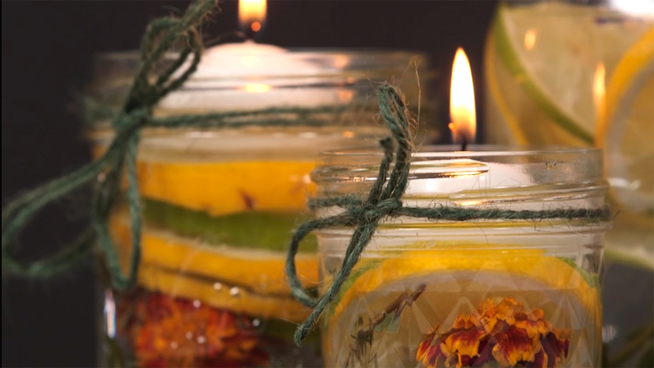 How To Make Summer Citronella Candles