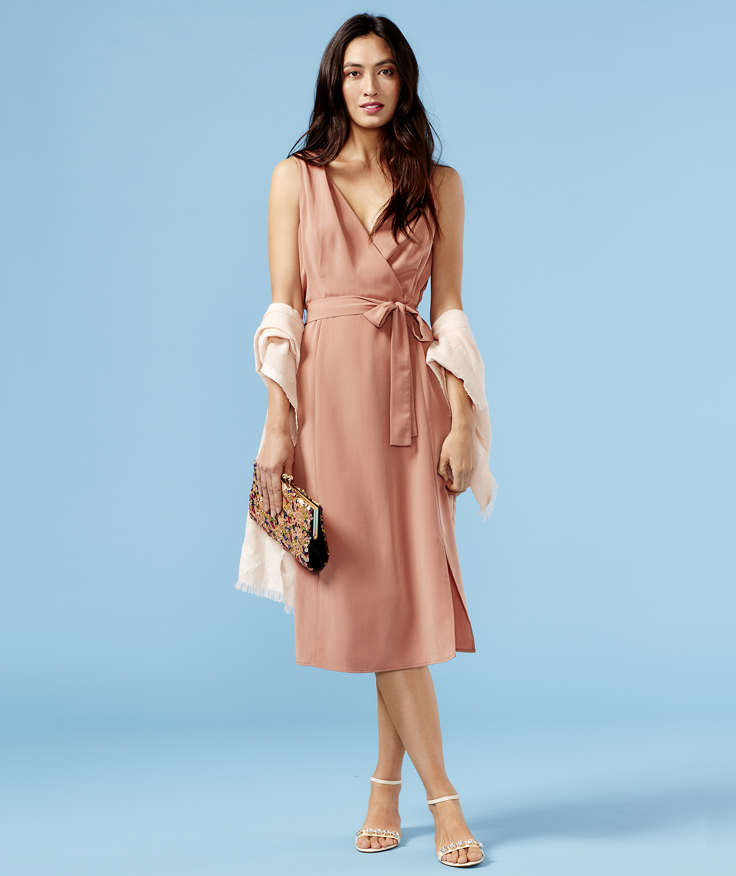 Outfit with blush-colored neutrals