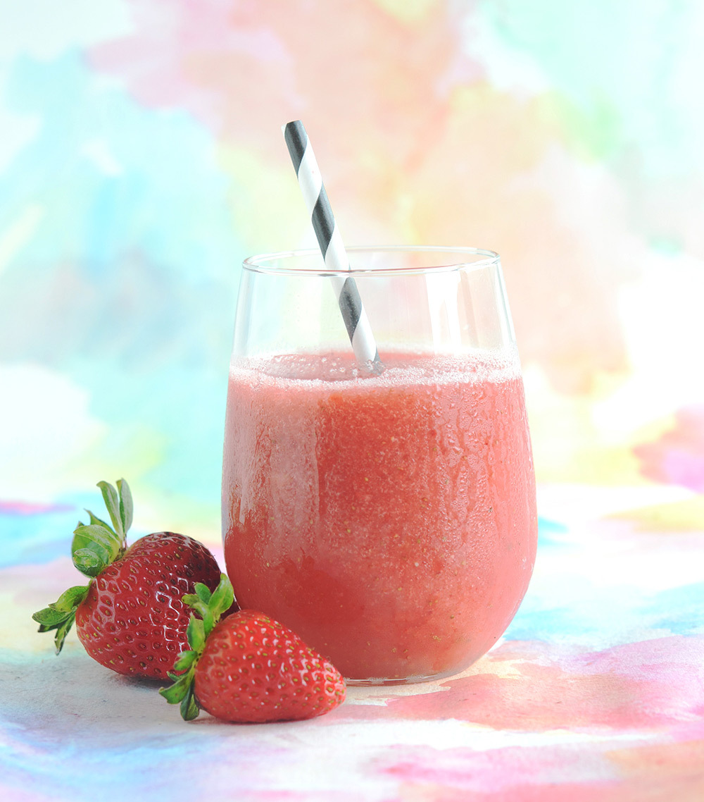 Strawberry Rose Slushie
