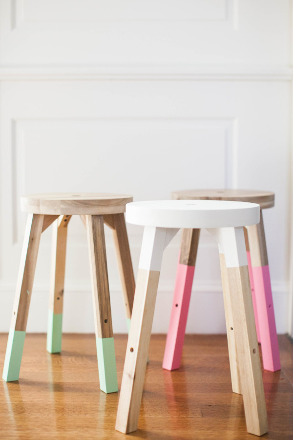 IKEA DIY Dipped Stools