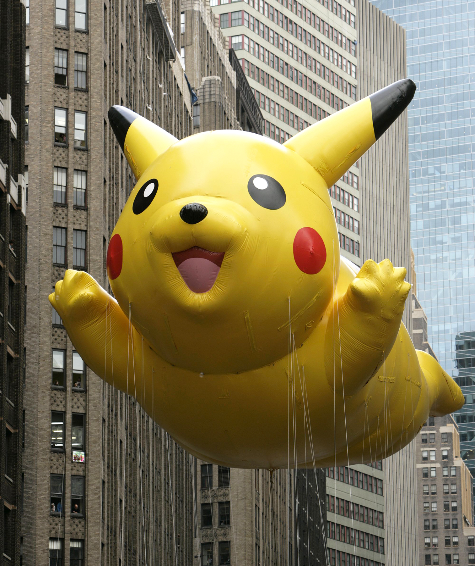 Pikachu balloon, NYC