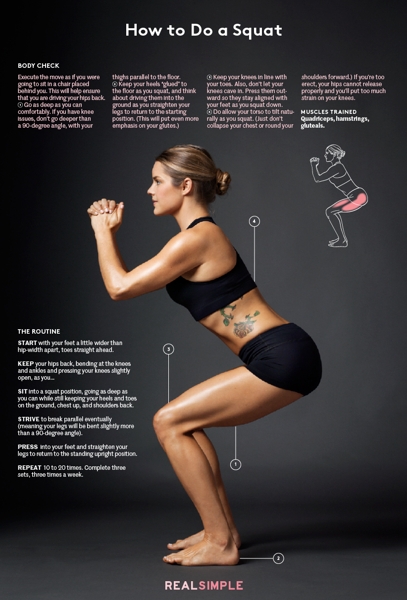 Proper Squat Form for a Safe, Effective Workout