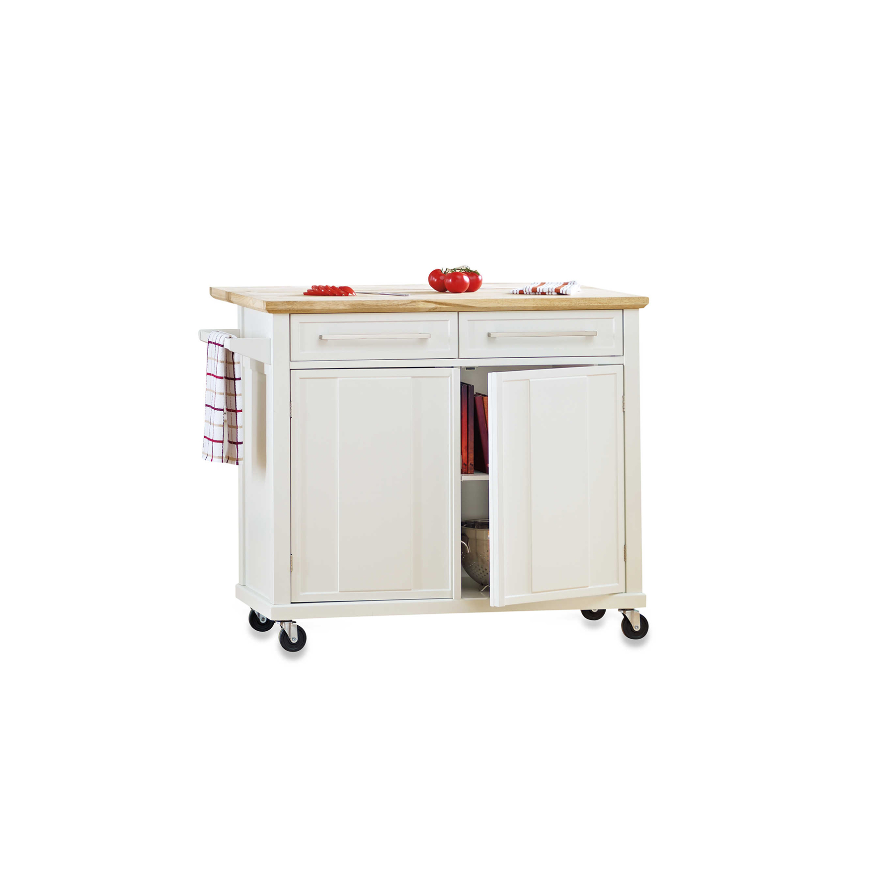 Real Simple Rolling Kitchen Island