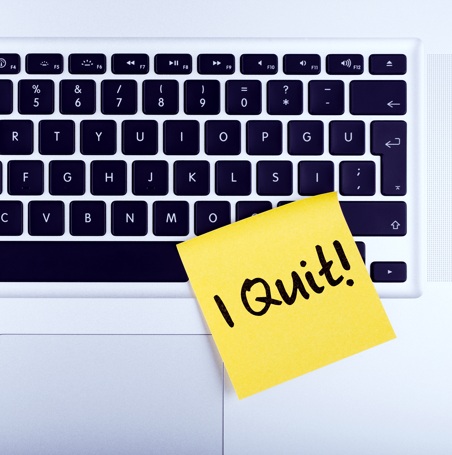 I quit post-it on keyboard