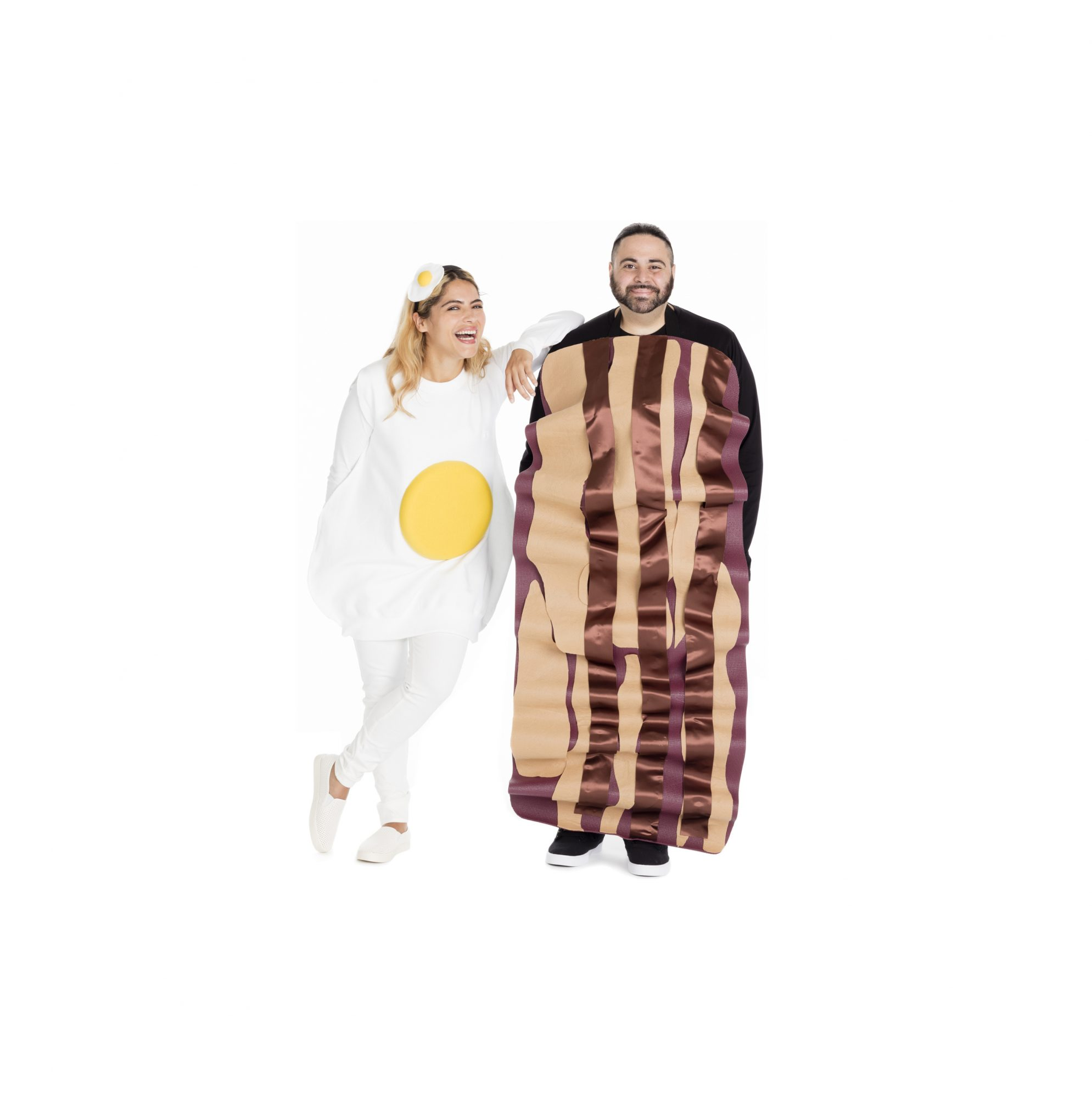Group Halloween costumes: Bacon and Eggs