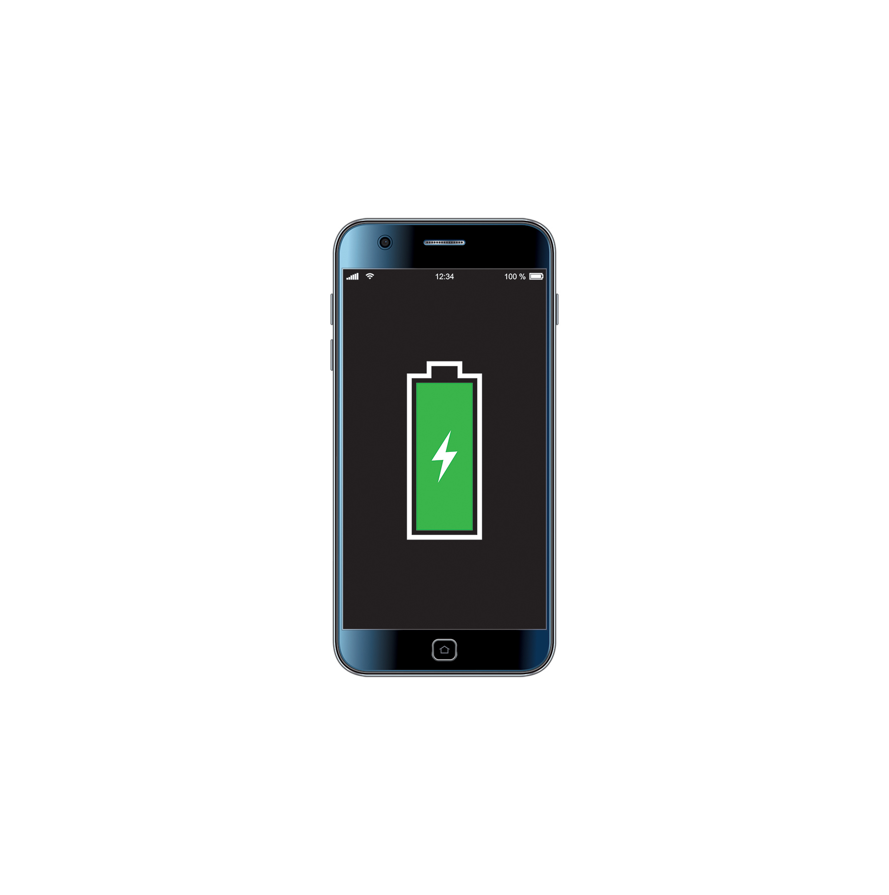 Illustration: Phone with full battery