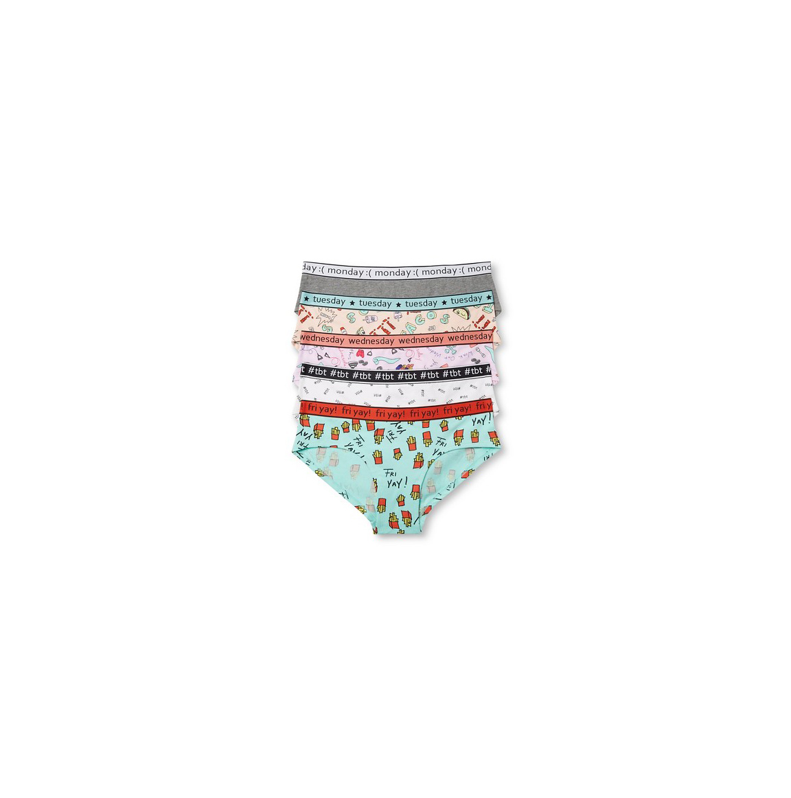 Women's Days of the Week Hipster 5-Pack