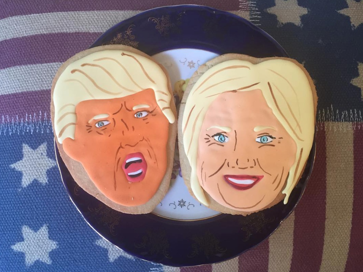 Trump and Clinton Cookies