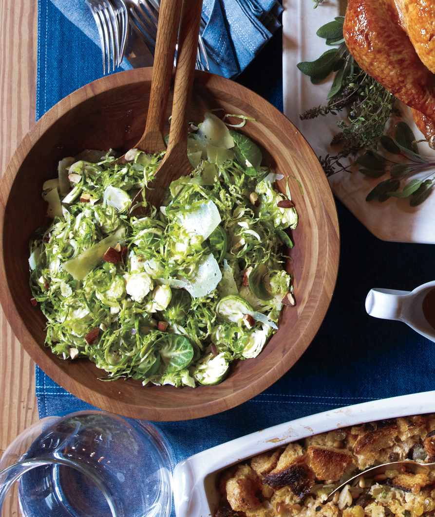 Shaved Brussels Sprouts With Manchego and Almonds