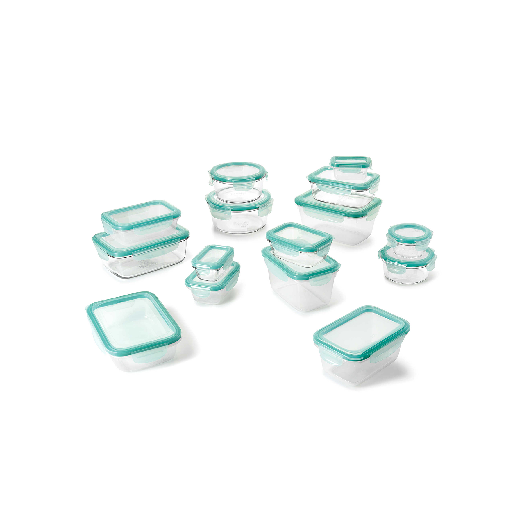 OXO Good Grips 30-Piece Glass Food Storage Container Set