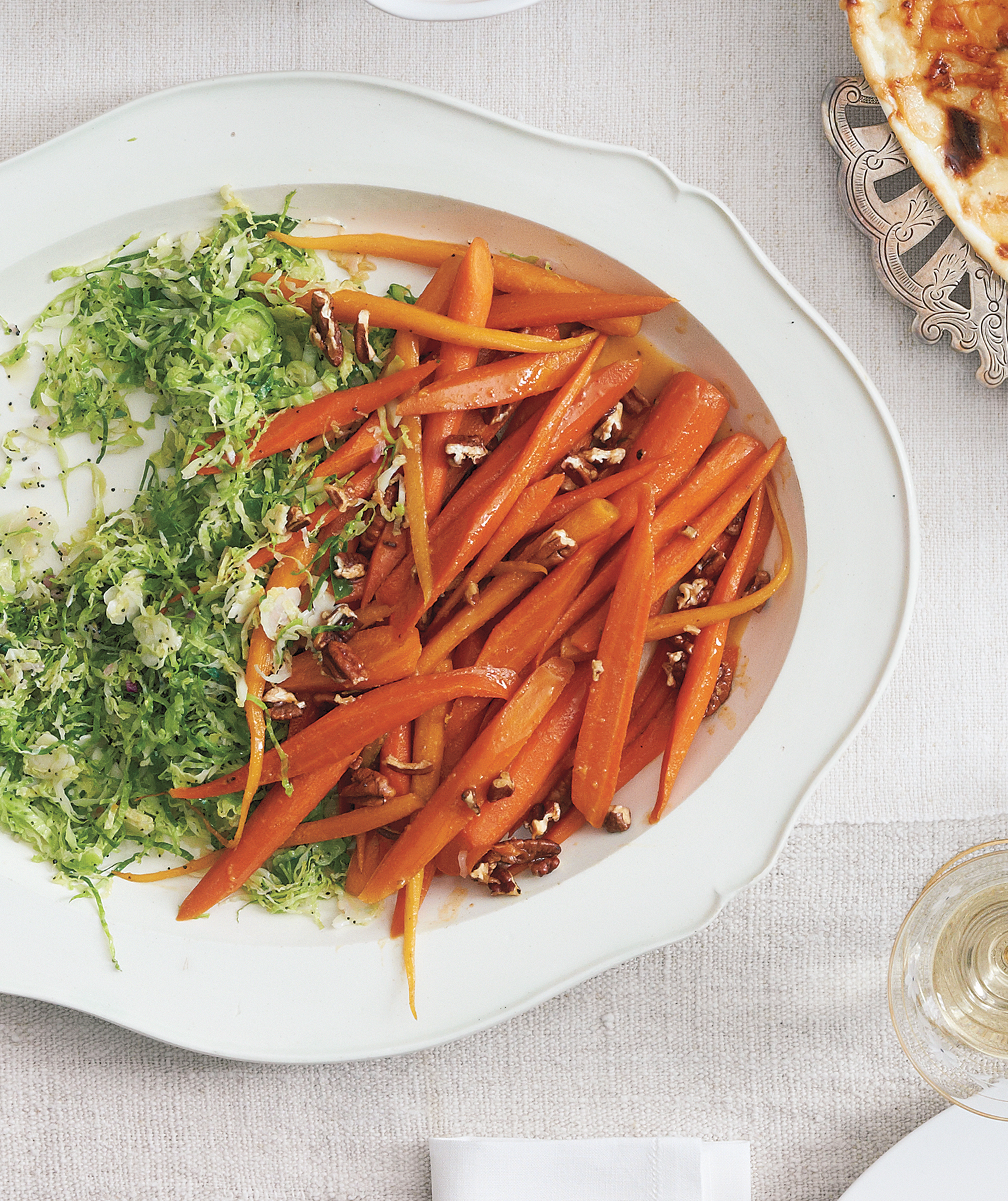 Brown Sugar-Glazed Carrots With Rosemary and Pecans