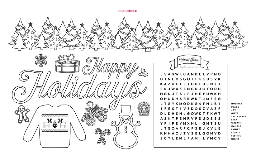 Printable Holiday-Themed Placemat