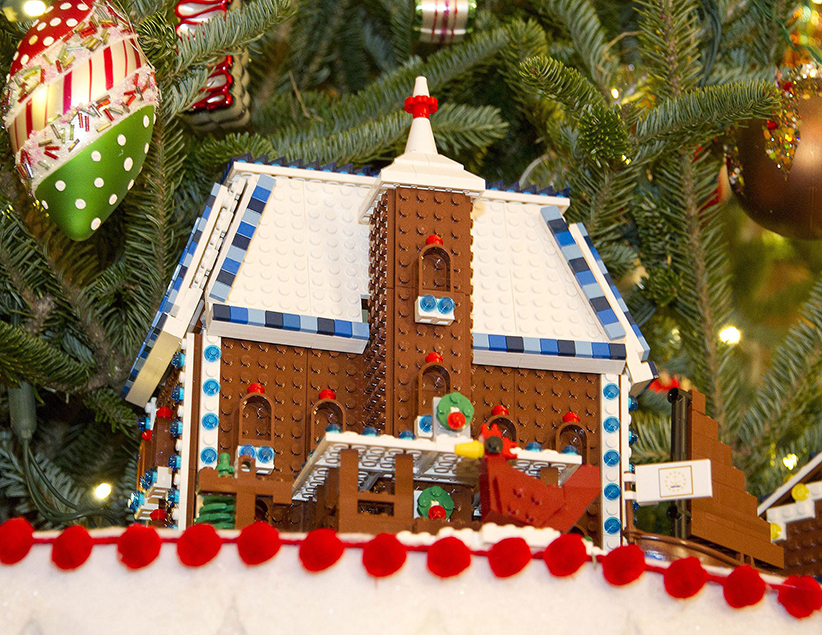 Lego Christmas Building in the White House