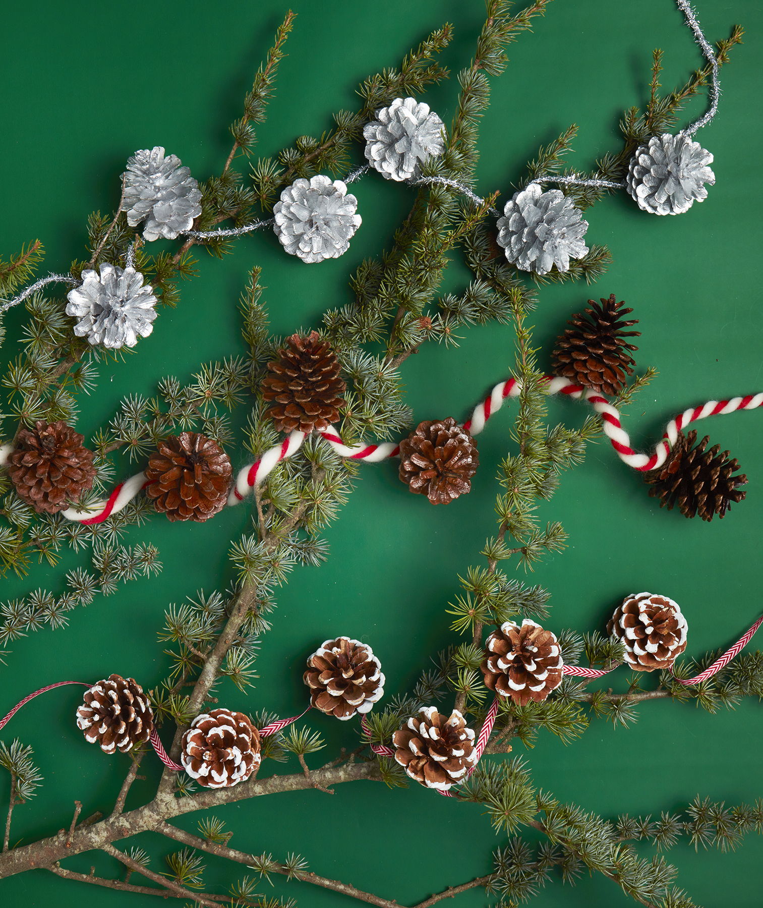 Christmas crafts ideas - Pinecone Garland