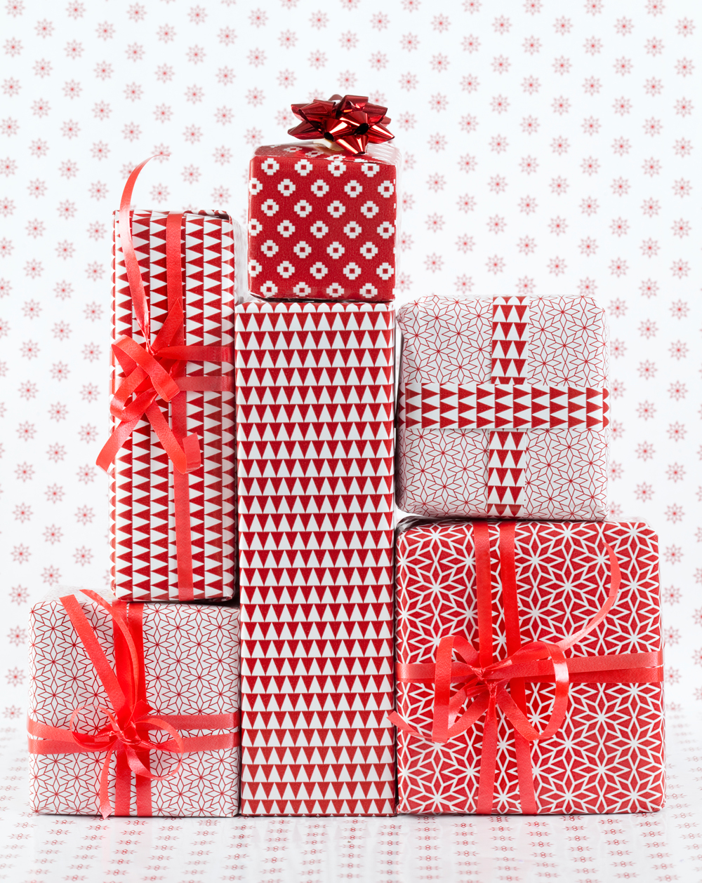 Red and White Presents