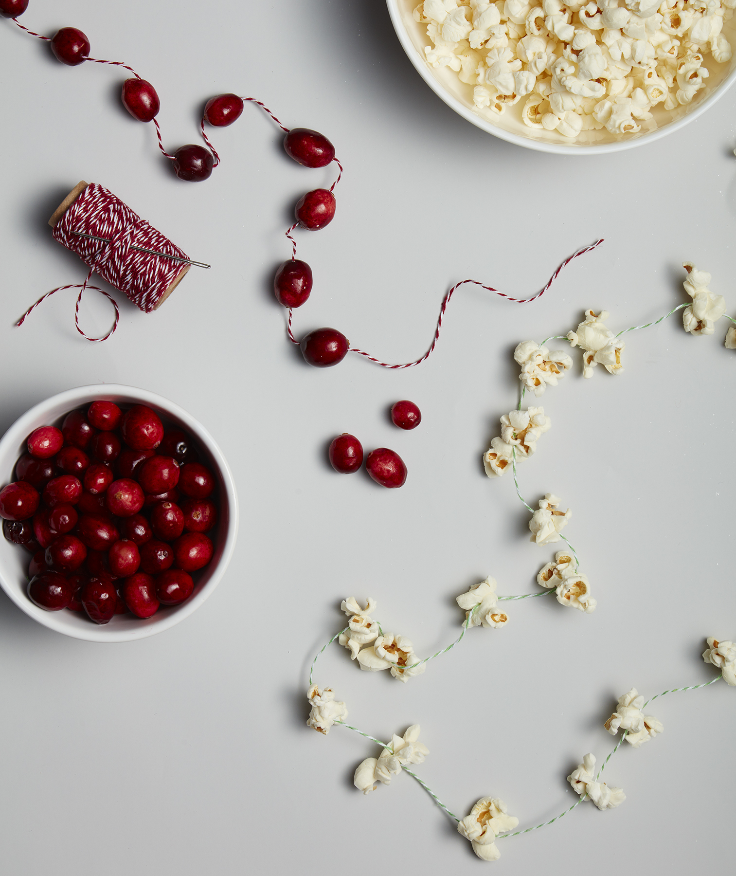 Christmas crafts ideas - Cranberry and Popcorn Garland