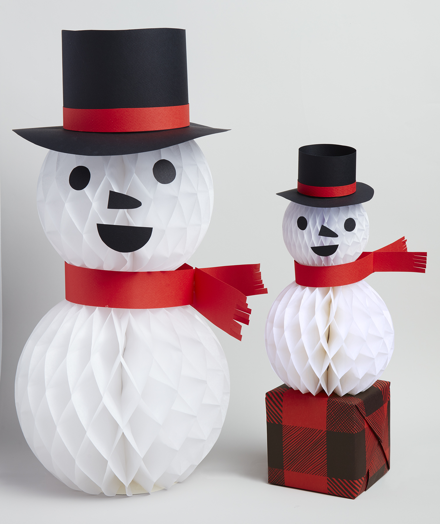 Christmas crafts ideas - Paper Snowmen