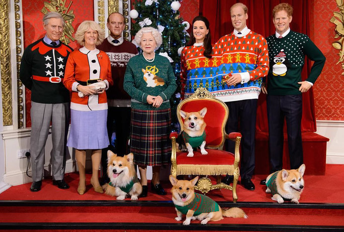 Royal Family in Ugly Sweaters Wax