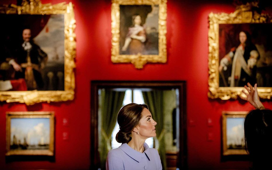 Kate Middleton in a Museum