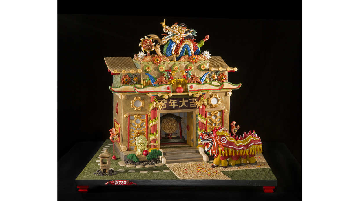Chinese New Year Gingerbread House