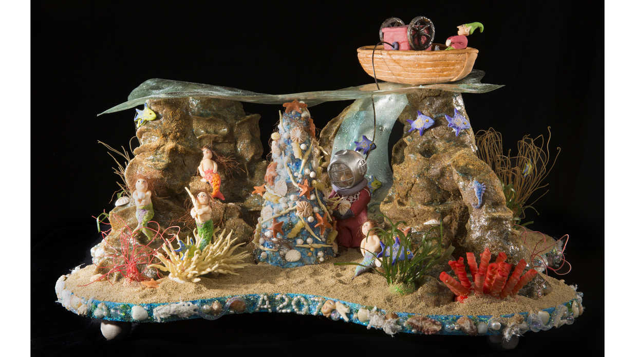 Under the Sea Gingerbread House