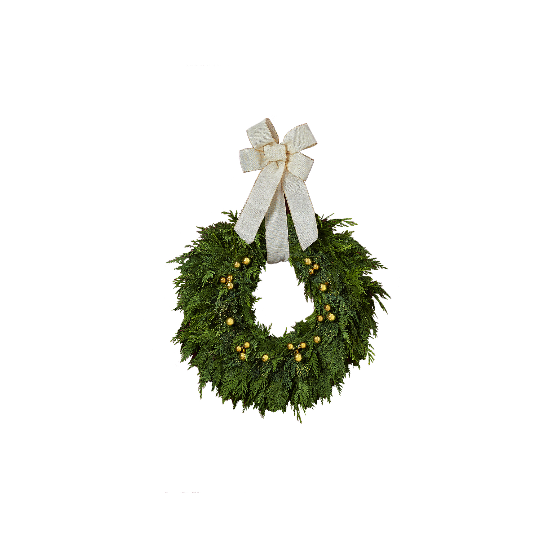 Golden Lights Wreath by Real Simple