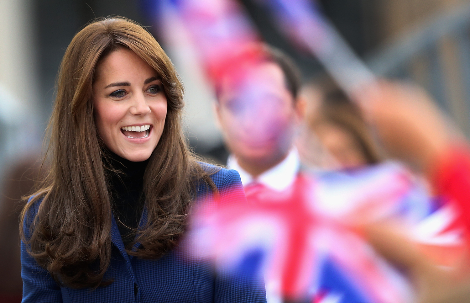 Smiling Kate Middleton