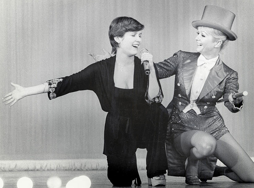 Debbie Reynolds and Carrie Fisher Singing