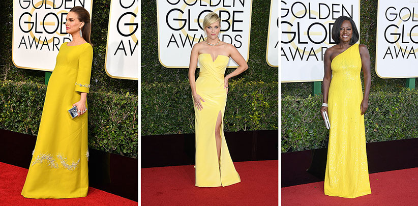Natalie Portman, Reese Witherspoon and Viola Davis at the 74th Annual Golden Globe Awards