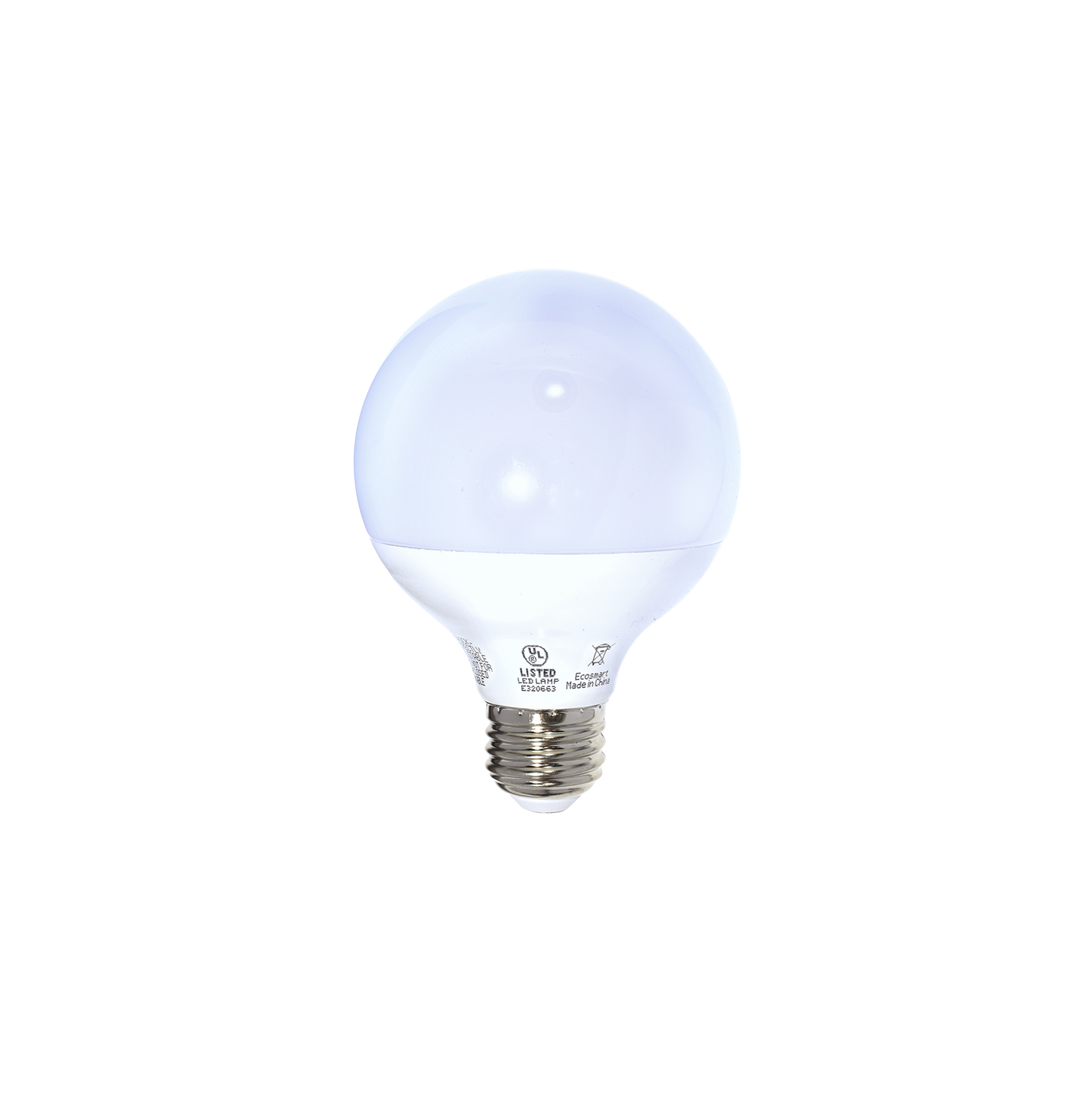 EcoSmart soft white G25 dimmable frosted LED bulb