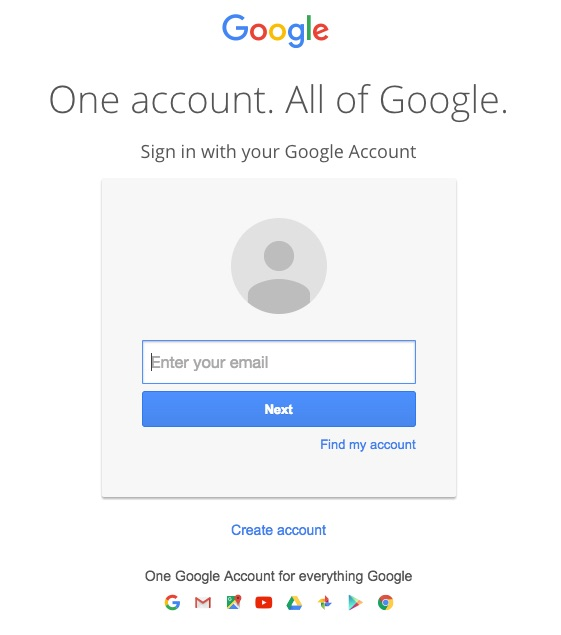 Google Mail Homepage