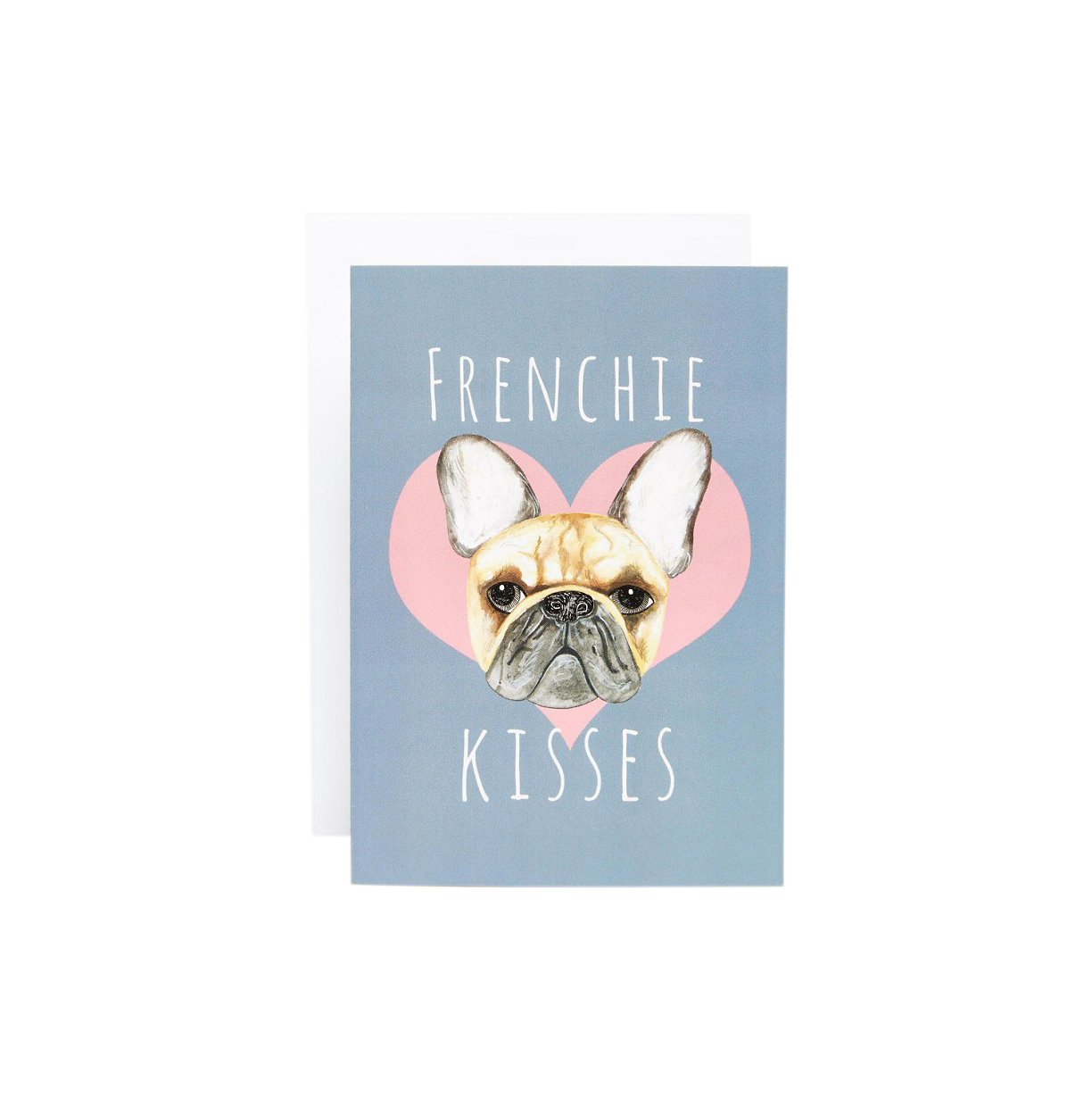 Jolly Awesome Frenchie Kisses Card