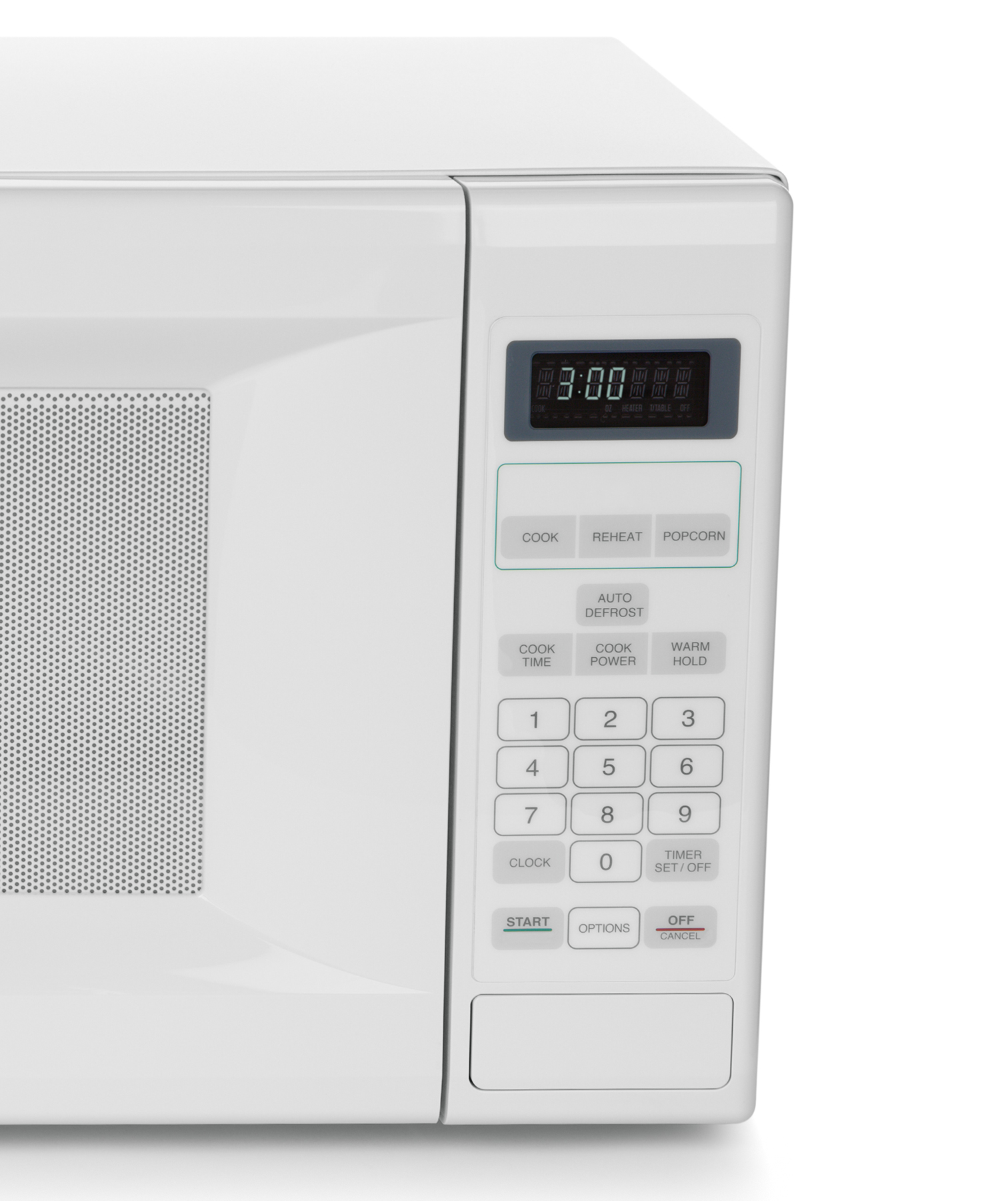 White microwave touch pad