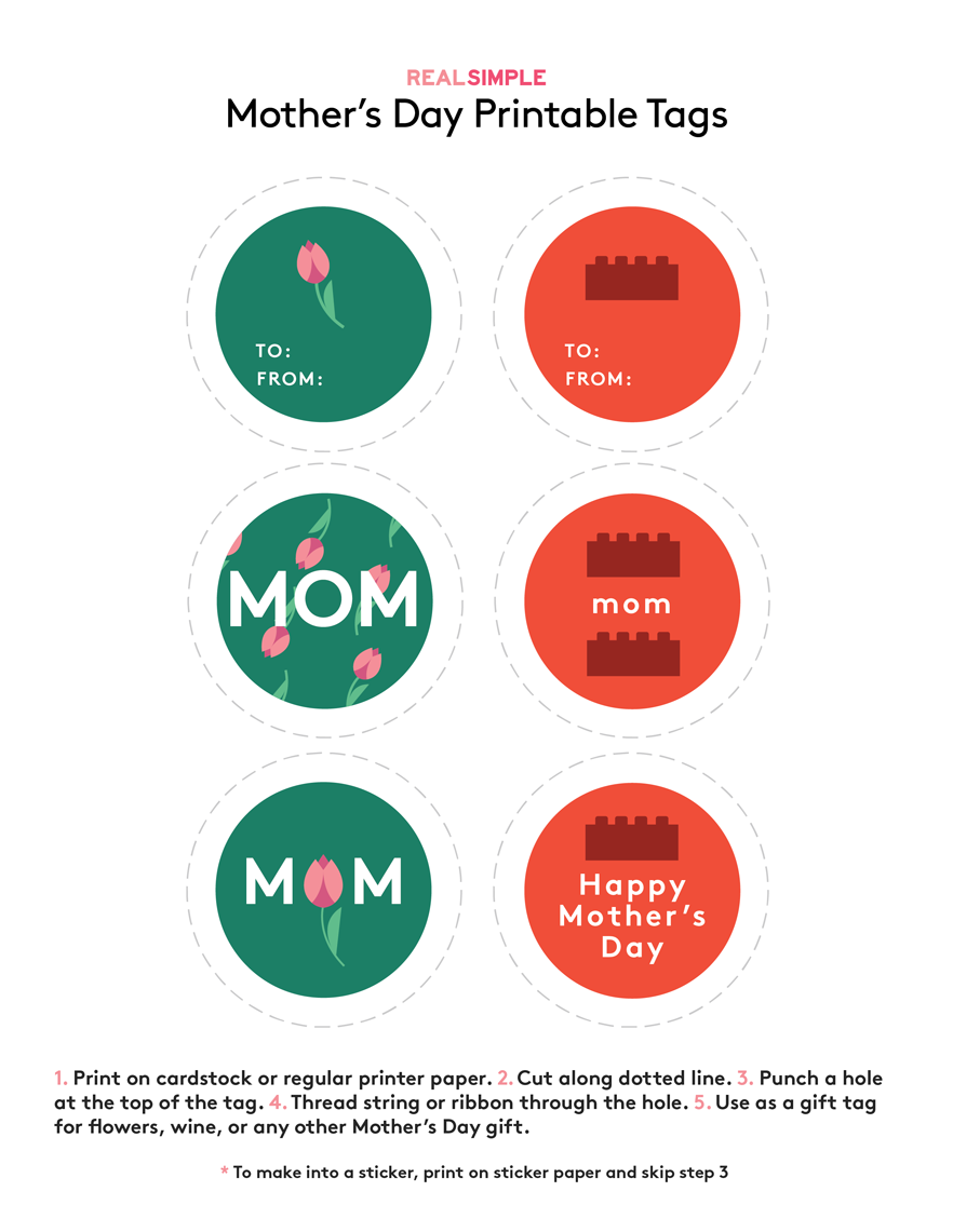 Mother's Day Printable Gift Tags (Tulips)