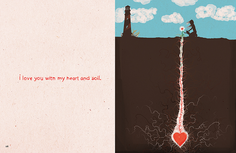 I love you with my heart and soil