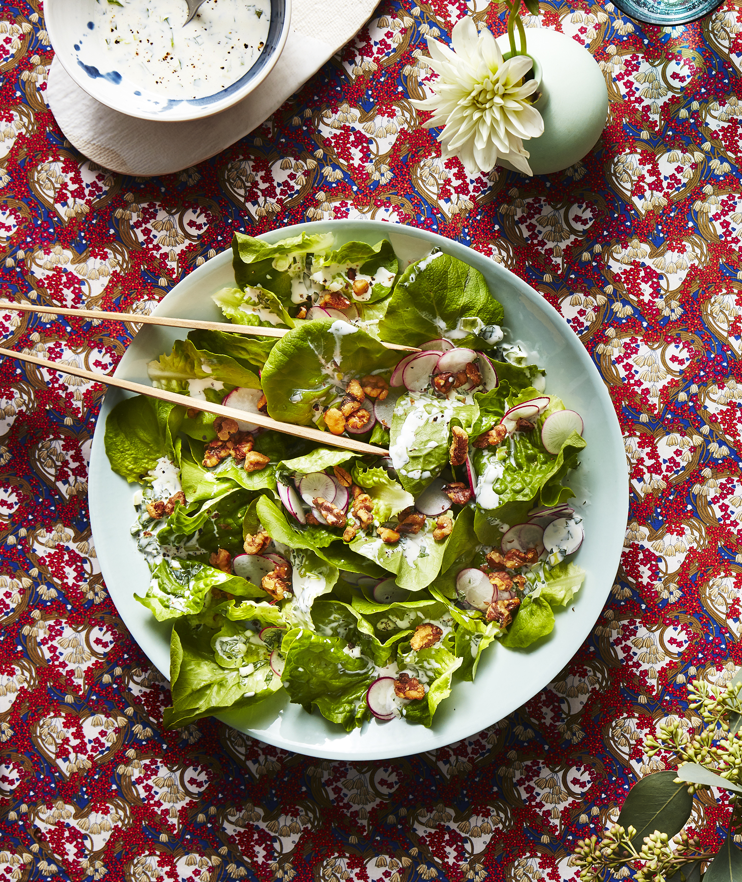 Bibb Salad With Basil-Buttermilk Dressing