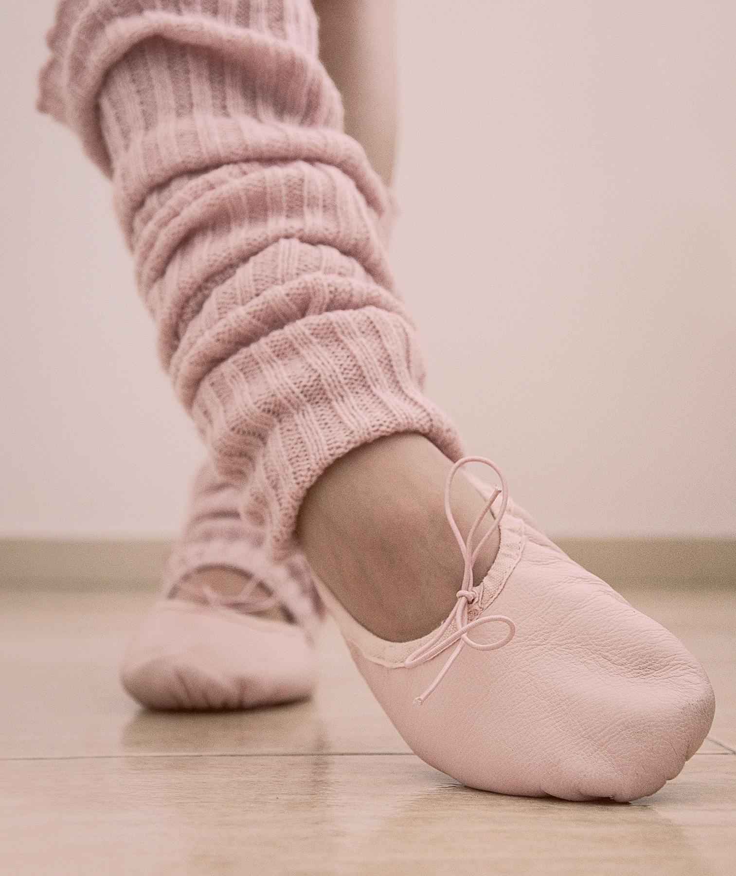 Ballet shoes and leg warmers