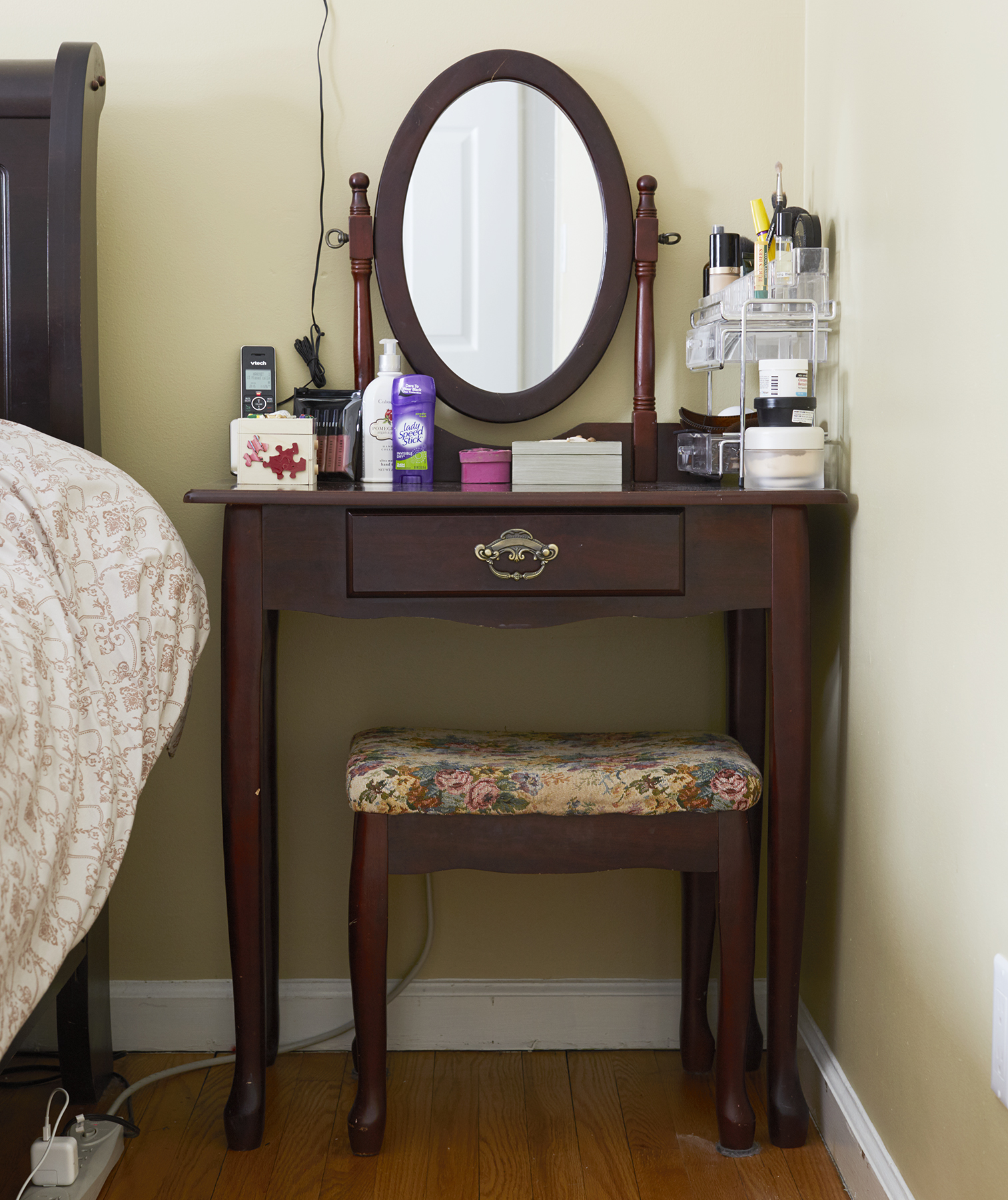 Dana Gentile vanity, before