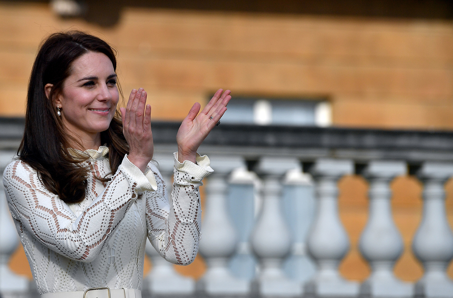 Kate Middleton Clapping at Event