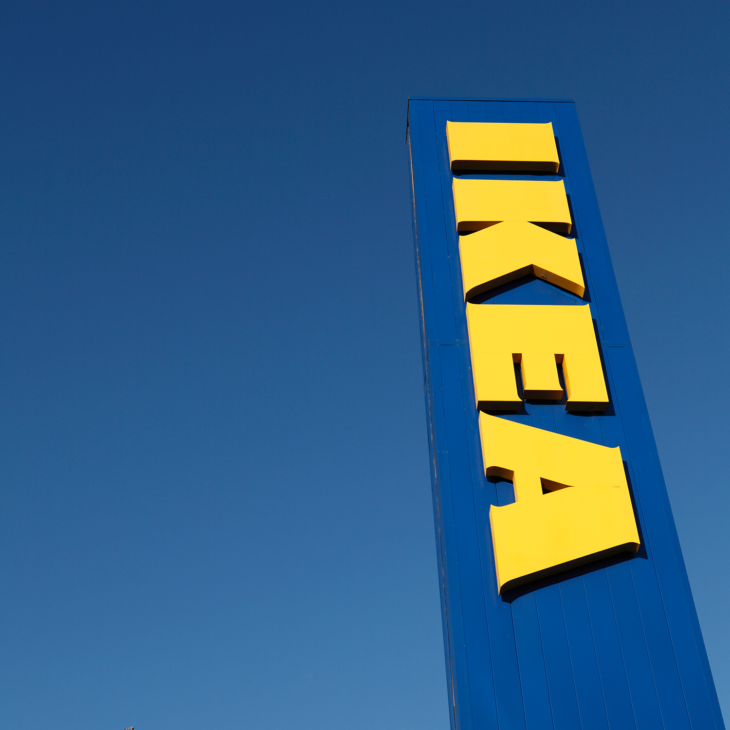 Ikea Sign in Blue Sign