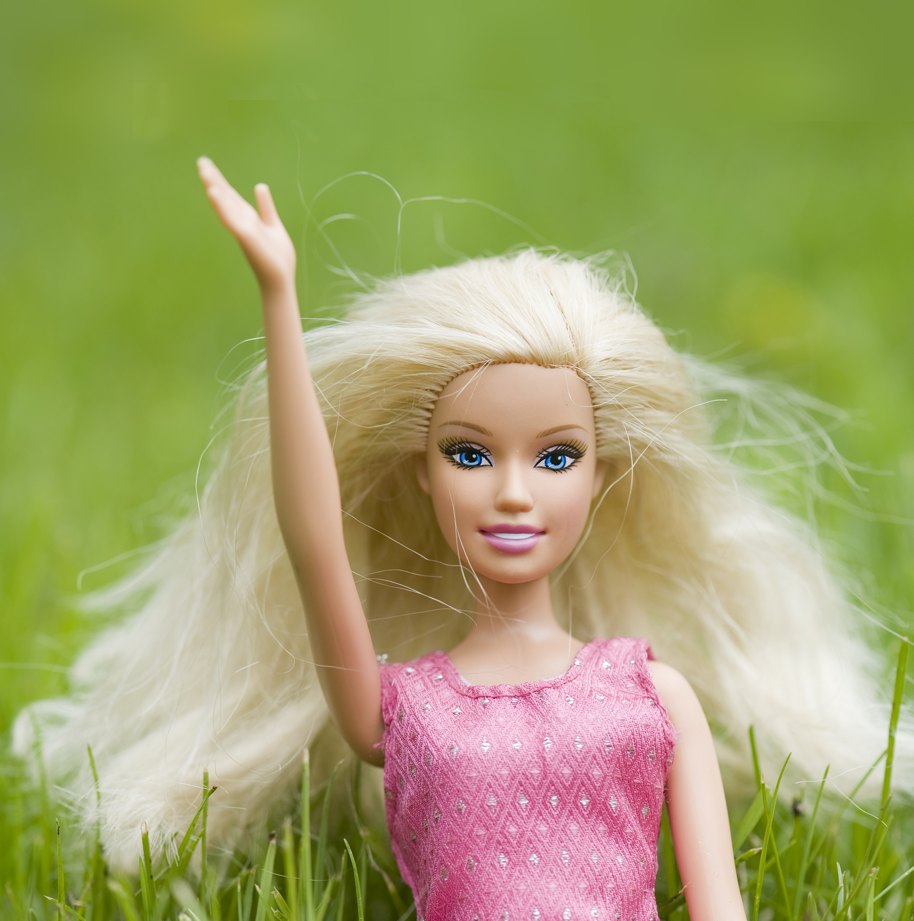 Barbie in the grass