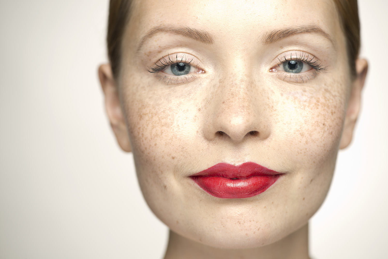 Red Lips on Woman