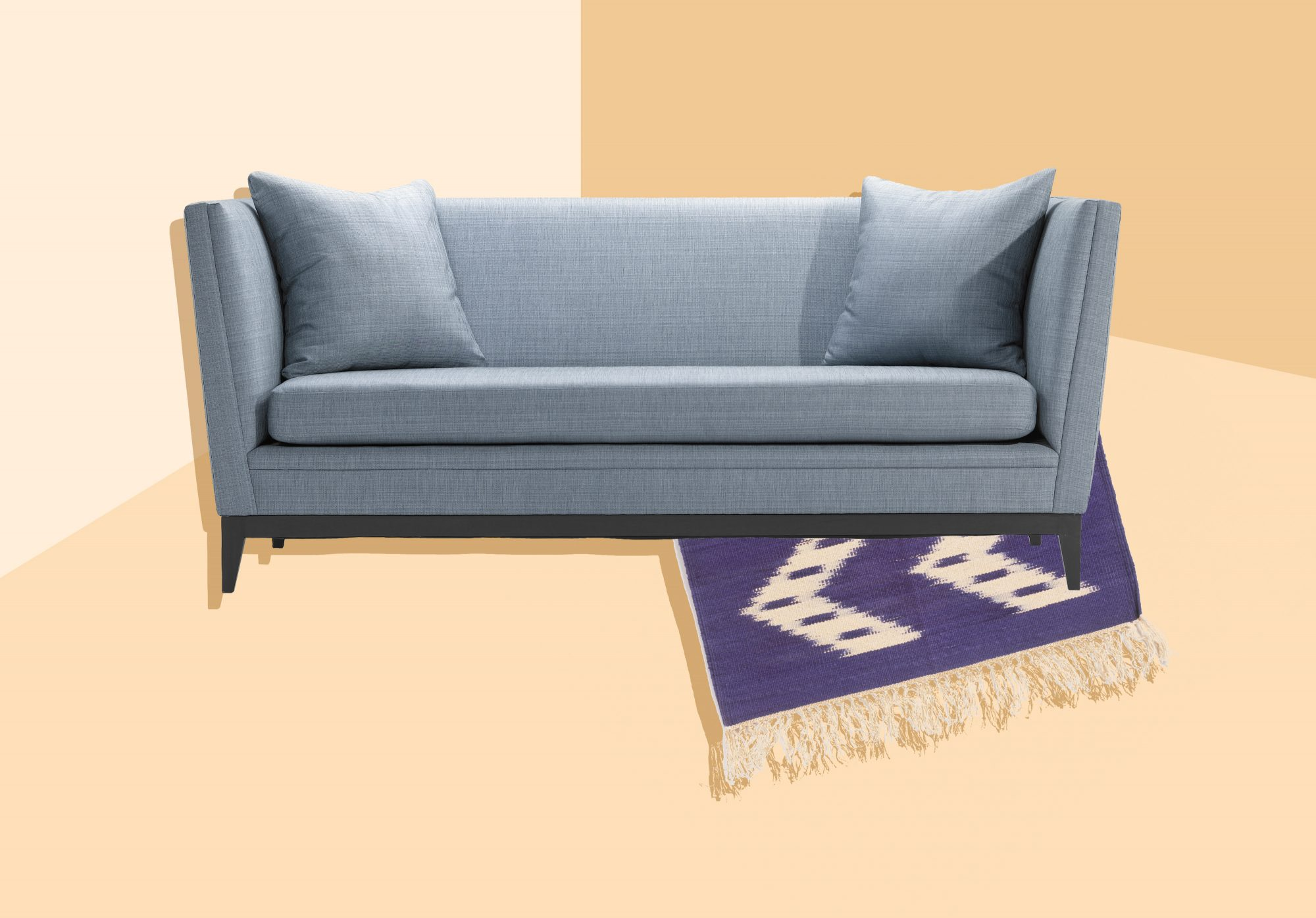Decorating Mistakes - couch and rug
